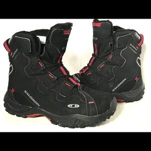Salomon Red and Black Boot | Waterproof | Size 6.5